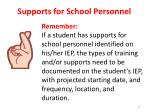 supports for school personnel1