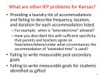 what are other iep problems for kansas