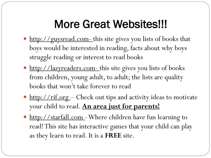 More Great Websites!!!