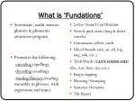 what is fundations