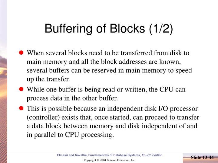 Buffering of Blocks (1/2)