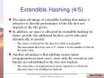 extendible hashing 4 5