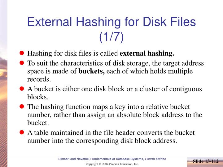 External Hashing for Disk Files (1/7)