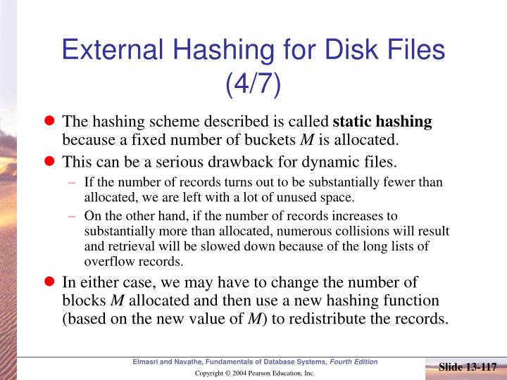External Hashing for Disk Files (4/7)