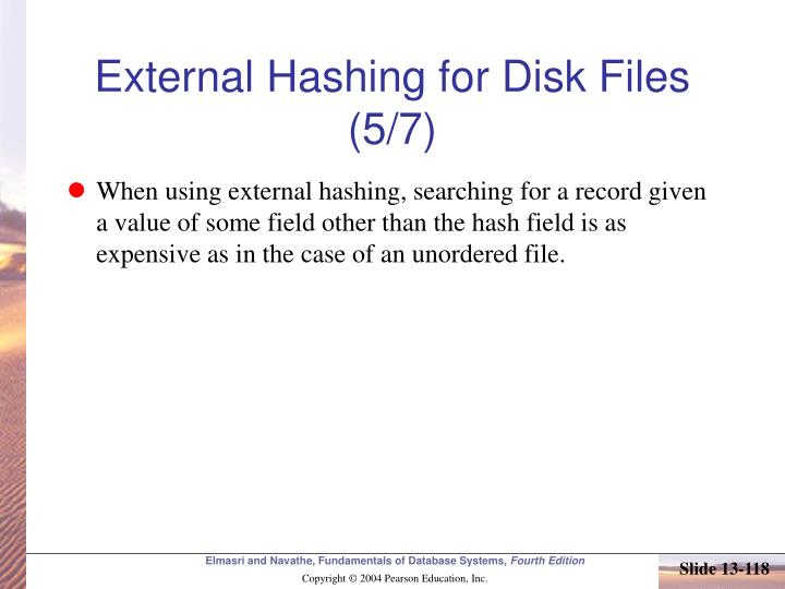 External Hashing for Disk Files (5/7)
