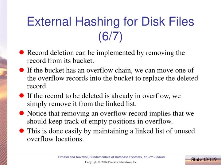 External Hashing for Disk Files (6/7)