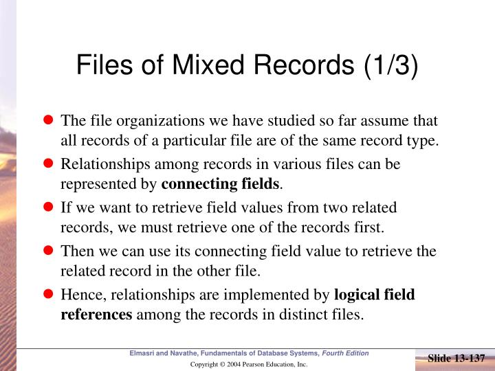 Files of Mixed Records