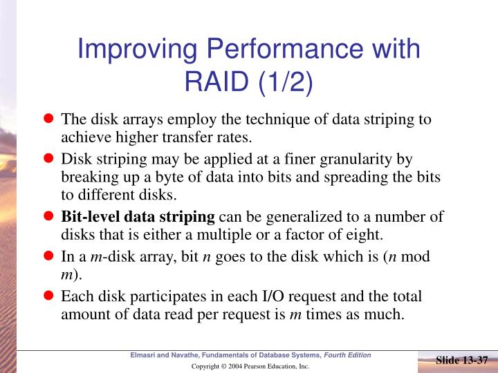 Improving Performance with RAID (1/2)