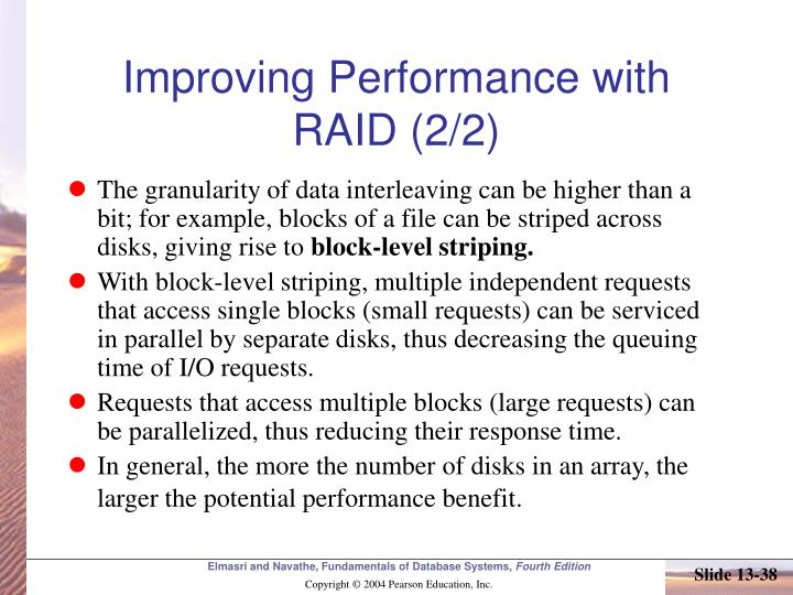 Improving Performance with RAID (2/2)