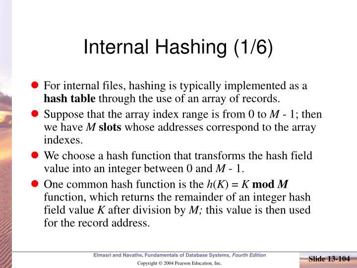 Internal Hashing (1/6)