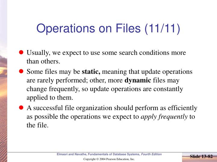 Operations on Files (11/11)
