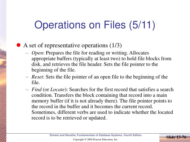 Operations on Files (5/11)