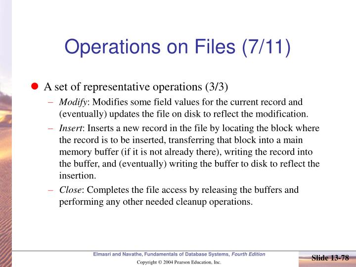 Operations on Files (7/11)