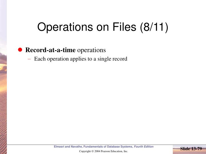 Operations on Files (8/11)