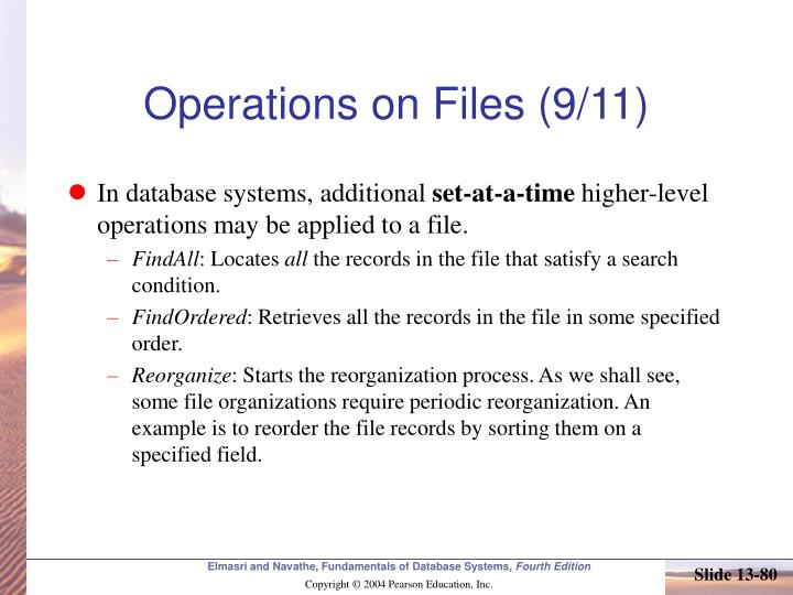 Operations on Files (9/11)