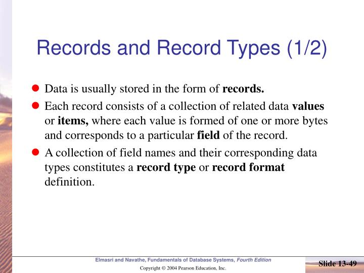 Records and Record Types (1/2)
