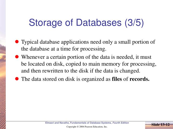 Storage of Databases (3/5)