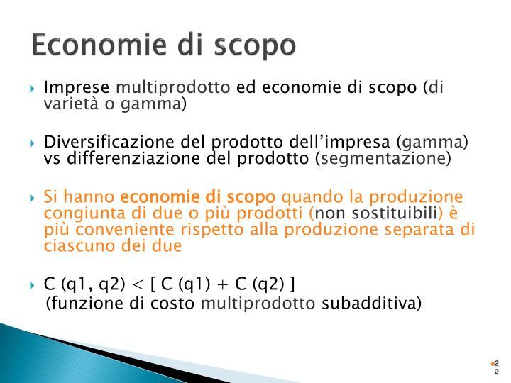 Economie di scopo