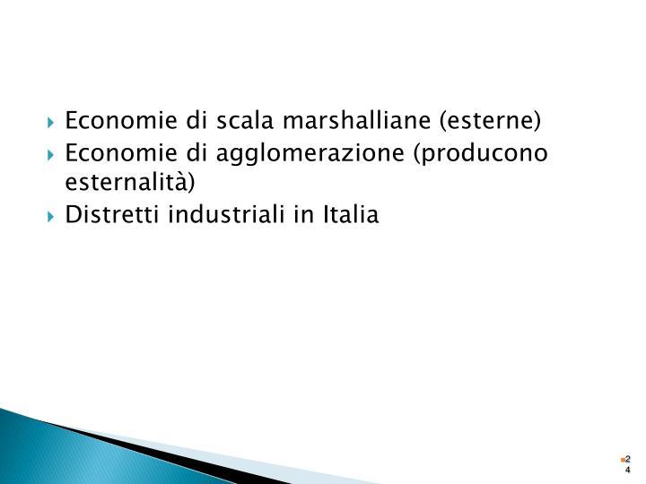 Economie di scala marshalliane (esterne)