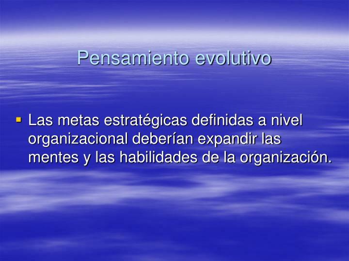 Pensamiento evolutivo