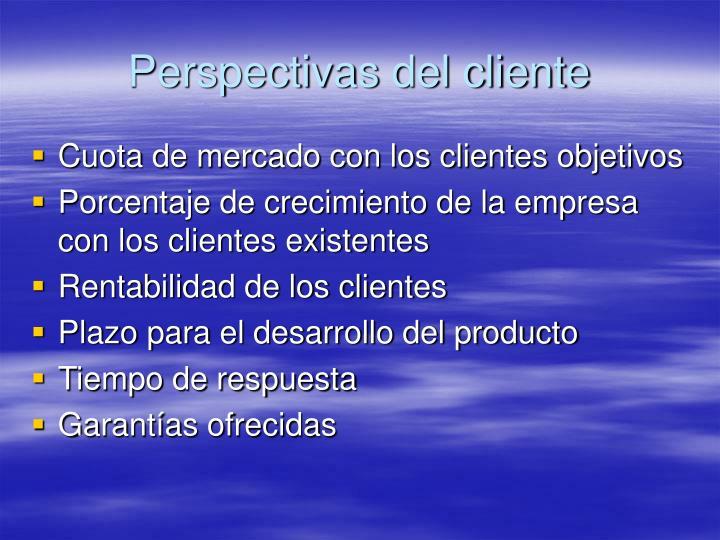 Perspectivas del cliente