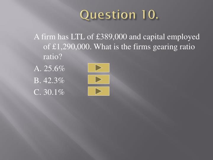 Question 10.