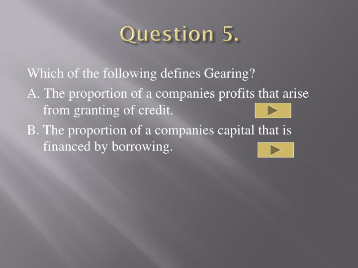 Question 5.