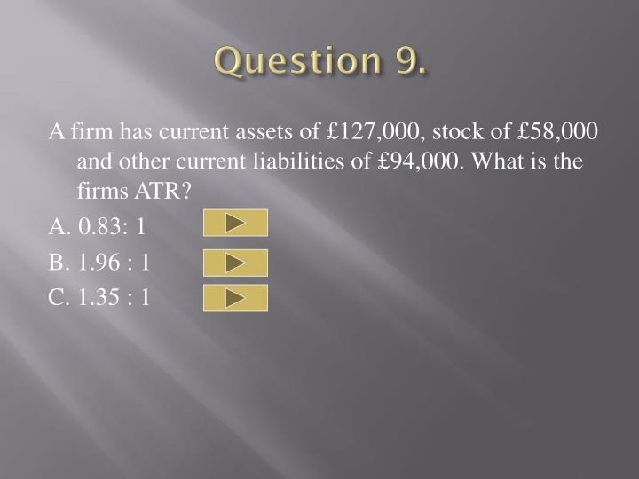 Question 9.