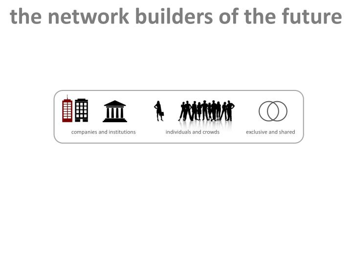 the network builders of the future