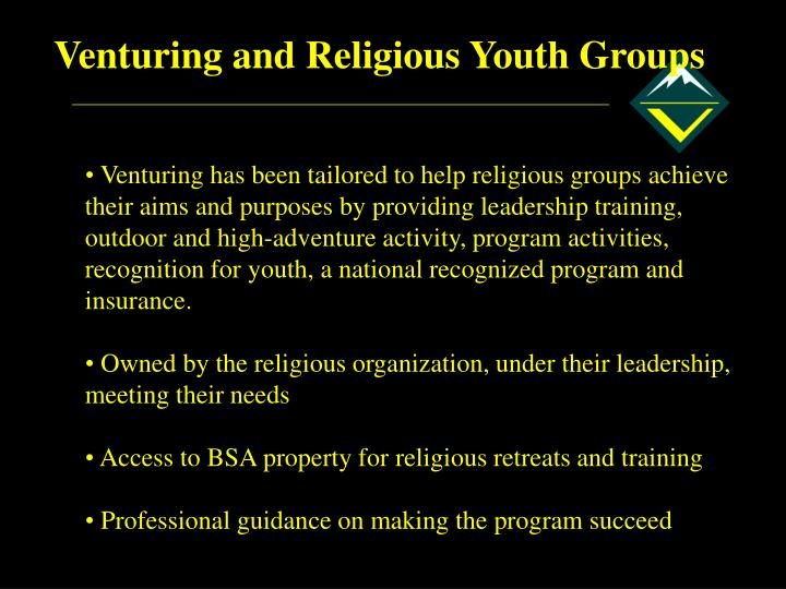 Venturing and Religious Youth Groups