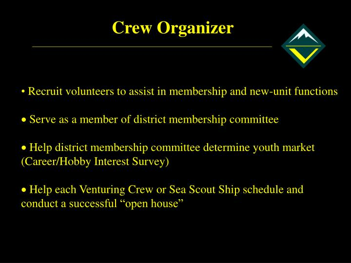 Crew Organizer