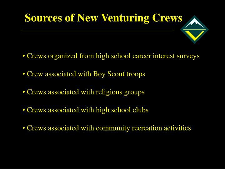 Sources of New Venturing Crews