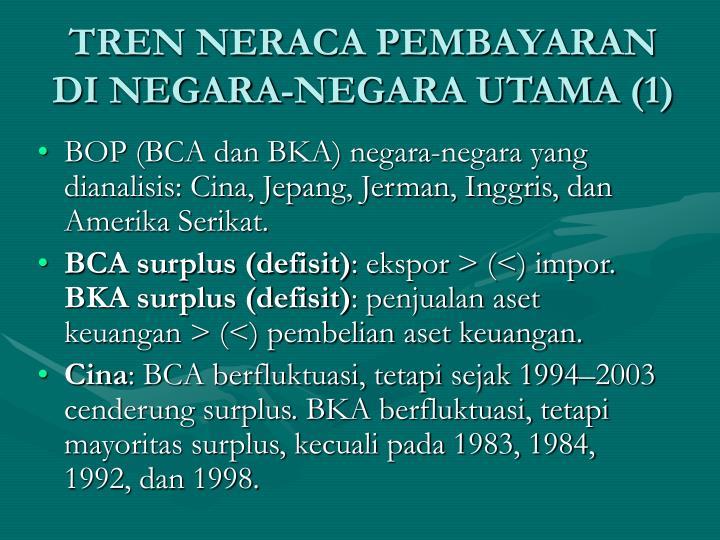 TREN NERACA PEMBAYARAN DI NEGARA-NEGARA UTAMA (1)
