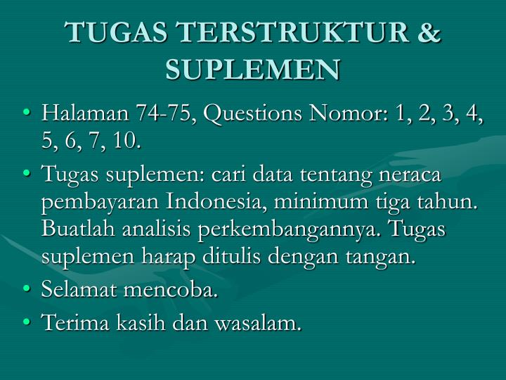 TUGAS TERSTRUKTUR & SUPLEMEN
