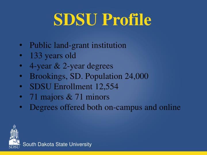 SDSU Profile