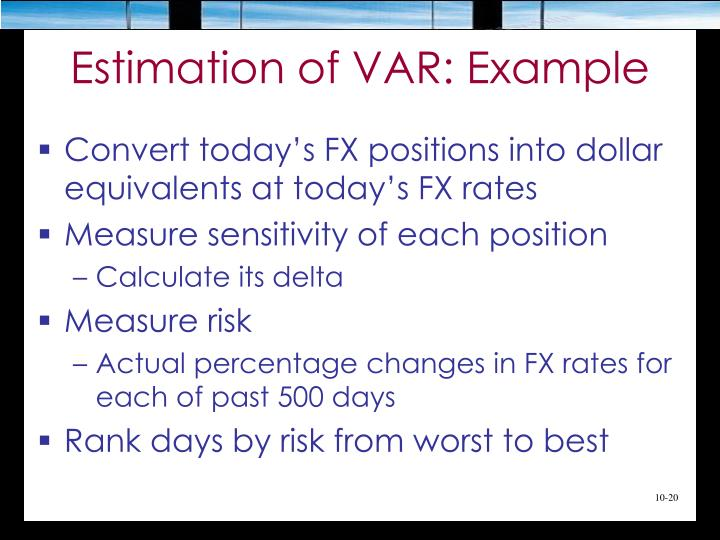Estimation of VAR: Example