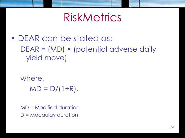 RiskMetrics