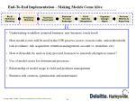 end to end implementation making models come alive3