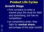 product life cycles11