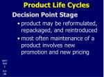 product life cycles23