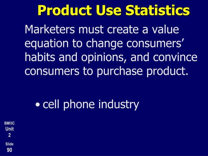 Product Use Statistics