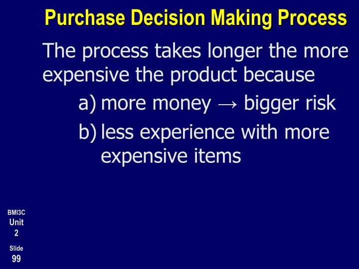 Purchase Decision Making Process