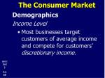 the consumer market13