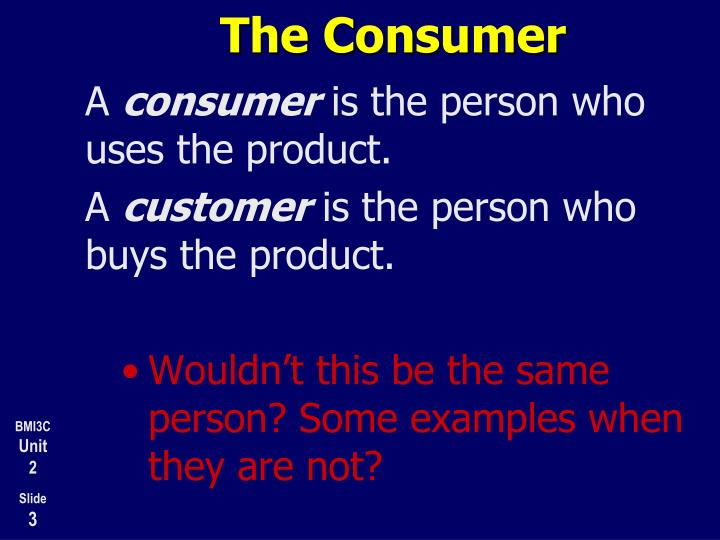 The consumer1