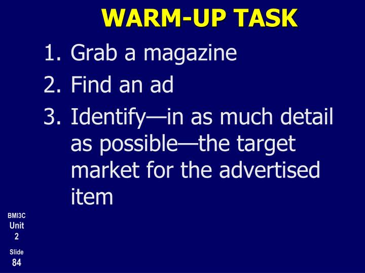 WARM-UP TASK