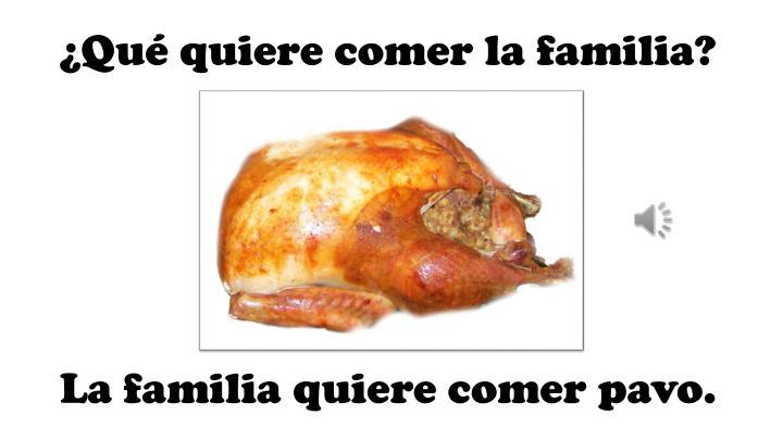 ¿Qué quiere comer la familia?
