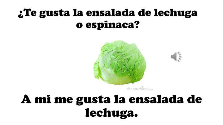 ¿Te gusta la ensalada de lechuga o espinaca?
