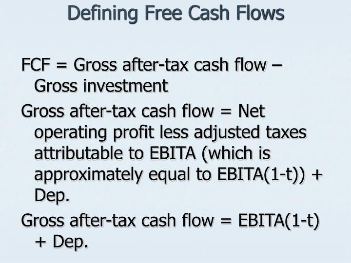 Defining Free Cash Flows