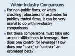within industry comparisons