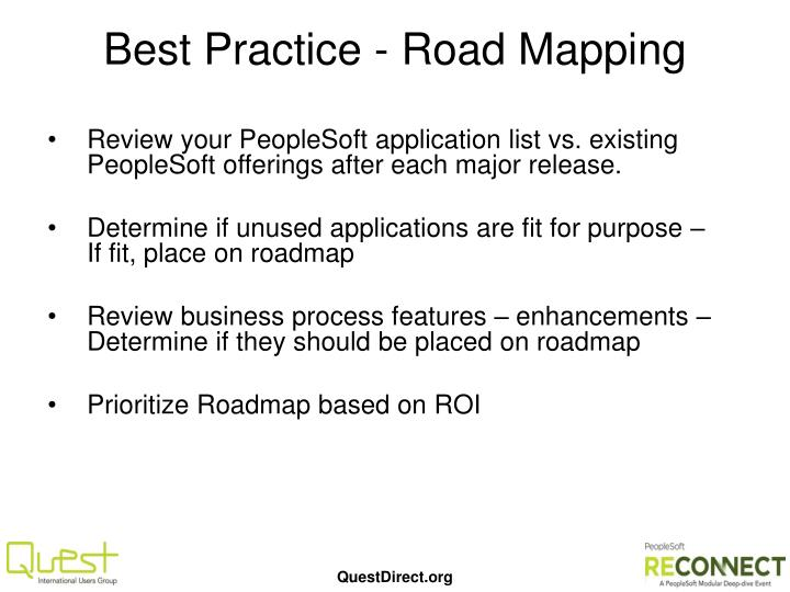 Best Practice - Road Mapping